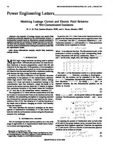 Modeling Leakage Current and Electric Field Behavior ... - IEEE Xplore