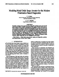 Modeling Metal Oxide Surge Arrester for the Modern ... - IEEE Xplore