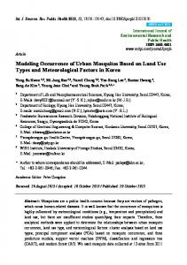 Modeling Occurrence of Urban Mosquitos Based on Land Use ... - MDPI