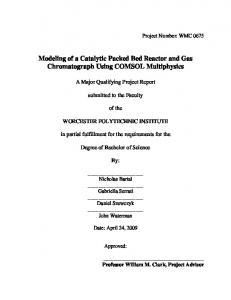 Modeling of a Catalytic Packed Bed Reactor and Gas Chromatograph