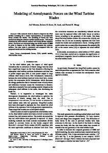 Modeling of Aerodynamic Forces on the Wind Turbine Blades