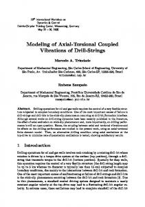 Modeling of Axial-Torsional Coupled Vibrations of ...