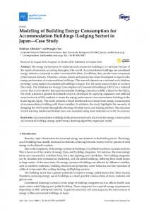 Modeling of Building Energy Consumption for Accommodation ... - MDPI