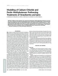 Modeling of Calcium Chloride and Pectin ... - Wiley Online Library
