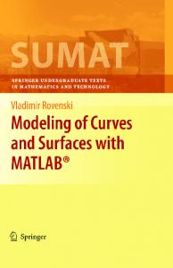 Modeling of Curves and Surfaces with MATLAB
