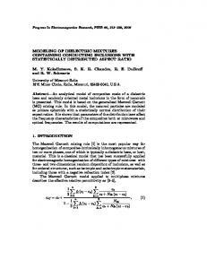 MODELING OF DIELECTRIC MIXTURES CONTAINING ... - CiteSeerX
