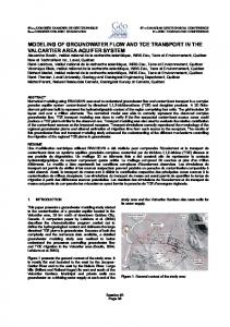 modeling of groundwater flow and tce transport in the