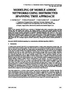 modeling of mobile adhoc networks using