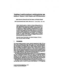 Modeling of repetitive ignitions in switching devices: case studies on ...