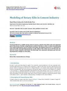 Modeling of Rotary Kiln in Cement Industry - Scientific Research