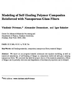Modeling of Self-Healing Polymer Composites Reinforced with ... - arXiv