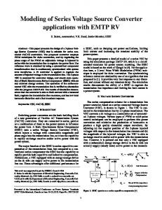 Modeling of Series Voltage Source Converter applications with EMTP ...