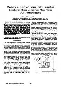 Modeling of the Boost Power Factor Correction Rectifier ... - IEEE Xplore