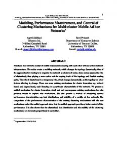Modeling, Performance Measurement, and Control of ... - CiteSeerX