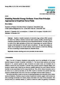 Modeling Potential Energy Surfaces: From First-Principle ... - MDPI