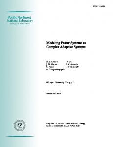 Modeling Power Systems as Complex Adaptive