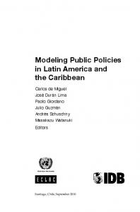 Modeling Public Policies in Latin America and the ...