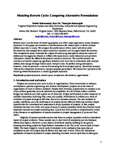 Modeling Rework Cycle - System Dynamics Society