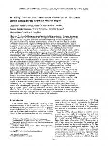 Modeling seasonal and interannual variability in ... - Wiley Online Library