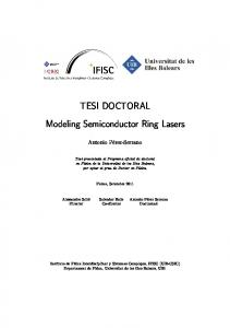 Modeling Semiconductor Ring Lasers
