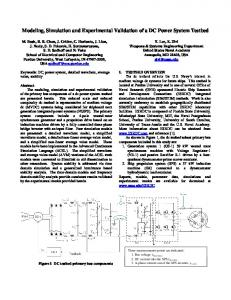 Modeling, Simulation and Experimental Validation of a DC ... - USNA