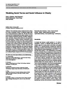 Modeling Social Norms and Social Influence in Obesity - Springer Link