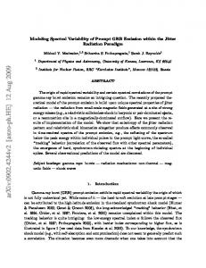 Modeling Spectral Variability of Prompt GRB Emission within the Jitter ...