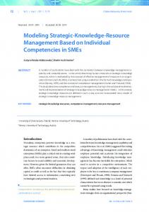 Modeling Strategic-Knowledge-Resource Management Based on ...
