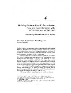 Modeling Surface Runoff, Groundwater Flow and their ...