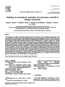 Modeling the atmospheric deposition and ... - Semantic Scholar