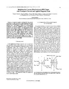 Modeling the current distribution in HTS tapes with transport current ...