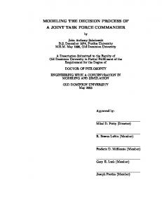 modeling the decision process of a joint task force ... - CiteSeerX