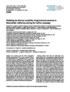 Modeling the diurnal variability of agricultural ... - Atmos. Chem. Phys