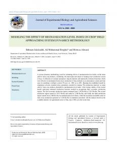 Modeling the Effect of Mechanization Level Index on Crop Yield ...