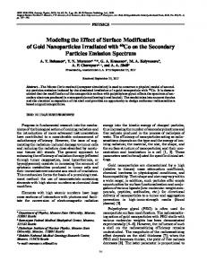 Modeling the Effect of Surface Modification of Gold Nanoparticles ...