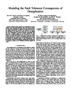 Modeling the Fault Tolerance Consequences of Deduplication
