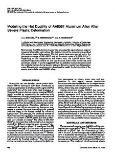 Modeling the Hot Ductility of AA6061 Aluminum Alloy ... - Springer Link