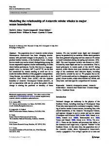 Modeling the relationship of Antarctic minke whales to ... - Palmer LTER