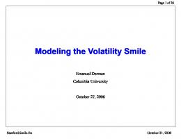 Modeling the Volatility Smile