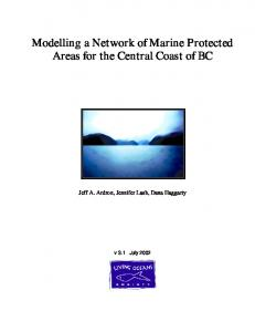 Modelling a Network of Marine Protected Areas for the ...