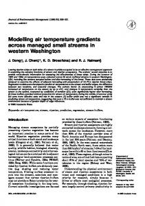 Modelling air temperature gradients across managed ... - CiteSeerX