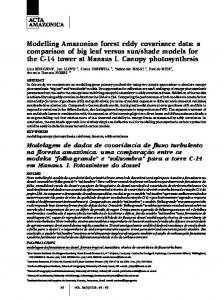 Modelling Amazonian forest eddy covariance data: a comparison of ...