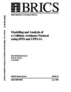 Modelling and Analysis of a Collision Avoidance Protocol using SPIN ...