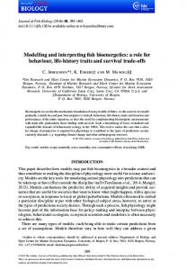 Modelling and interpreting fish bioenergetics: a ... - Wiley Online Library