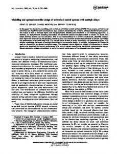 Modelling and optimal controller design of networked control systems