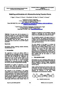 Modelling and Simulation of a Microturbine during Transient ... - icrepq