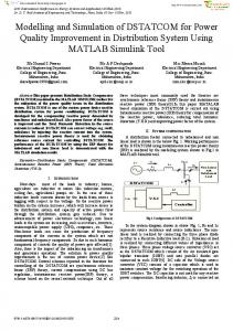 Modelling and Simulation of DSTATCOM for Power