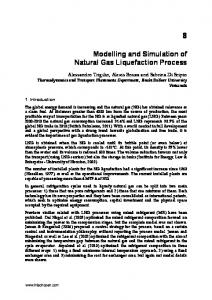Modelling and Simulation of Natural Gas Liquefaction ... - InTechOpen