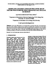 modelling and simulation of two-level space vector ...