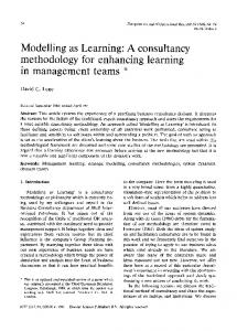 Modelling as Learning: A consultancy methodology ...
